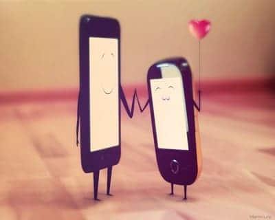 amor pelo celular