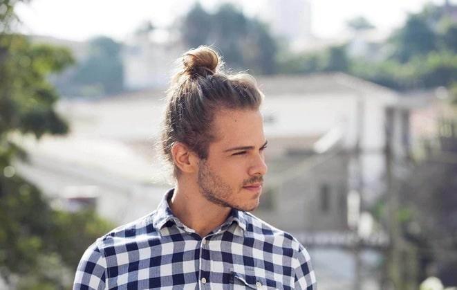 cabelo coque samurai